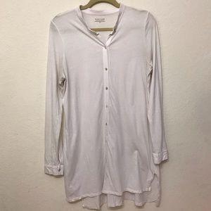 Eileen Fisher Organic Cotton Button Down Tunic
